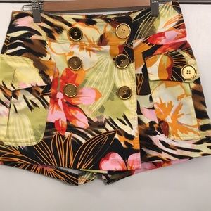 Cache tropical print skort size 4